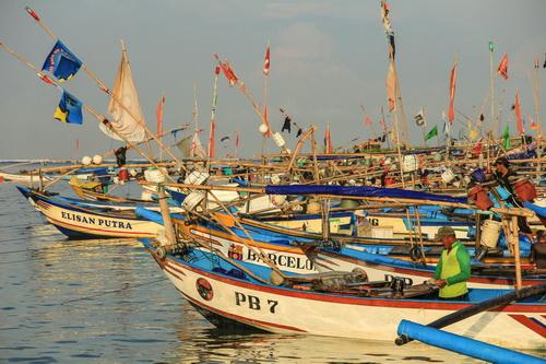Jejeran perahu nelayan Ujung Genteng