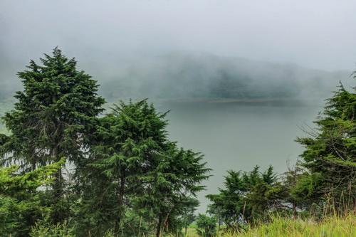 Pemandangan Telaga Dringo dari Bukit Cemeti